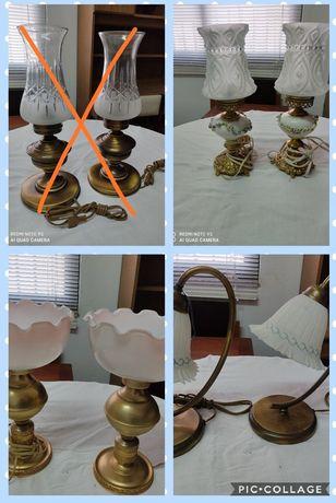 Candeeiros mesa de cabeceira estilo antigo