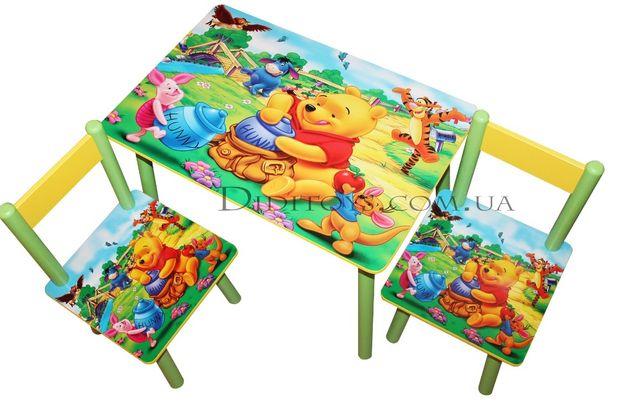 Детский столик и стул Винни Пух для 1-7 лет