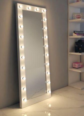 Гримерное зеркало напольное с подсветкой