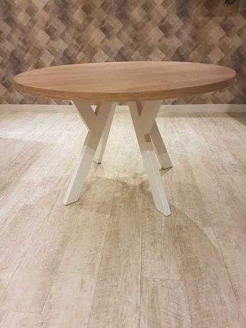 Stół okrągły imitacja drewna, blat-Nowy,120cm, 36mm