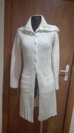 Nowy sweter kardigan wełna r 36