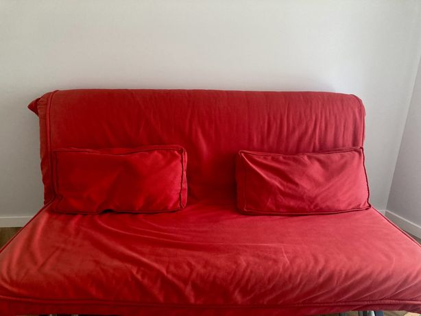 Sofá-cama ikea (vermelho)