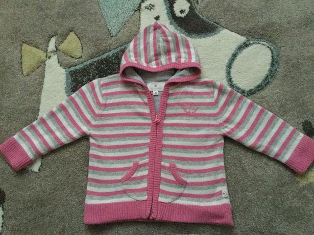 Sweterek z kapturem rozm 80