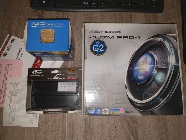 Комплект Intel i5 4690K, AsRock Z87M Pro 4, 16 Gb DDR3