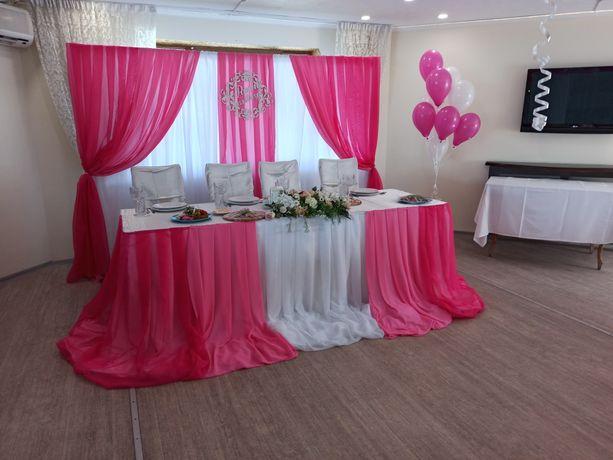 Арка на свадьбу, ширма, оформление зала, фотозона, баннер Аренда