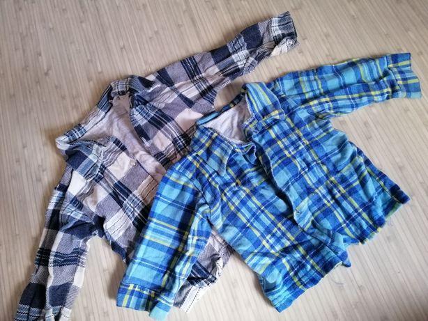 Байковая рубашка 6-9 мес 2 шт