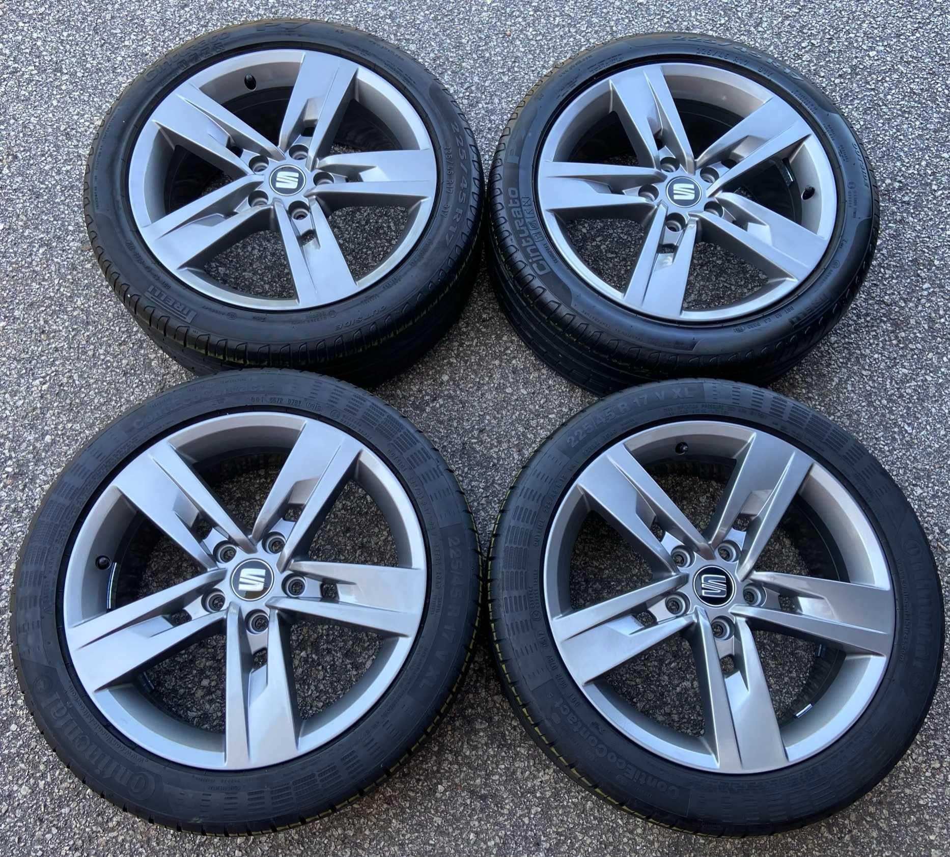 Jantes 17 5x112 Seat Leon FR C/ Pneus 225 45 R17