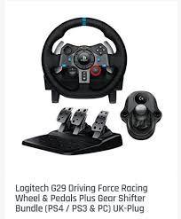 Logitech G29 + pedal + Shifter