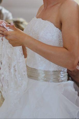 Sprzedam suknię ślubną Fulara & Żywczyk Aisha + bolerko + welon, halka