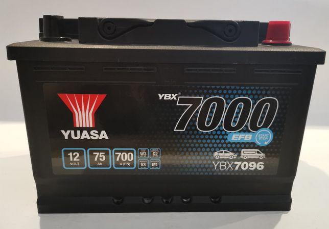 Akumulator YUASA YBX7096 EFB Start Stop 75Ah 700A Promocja!!!