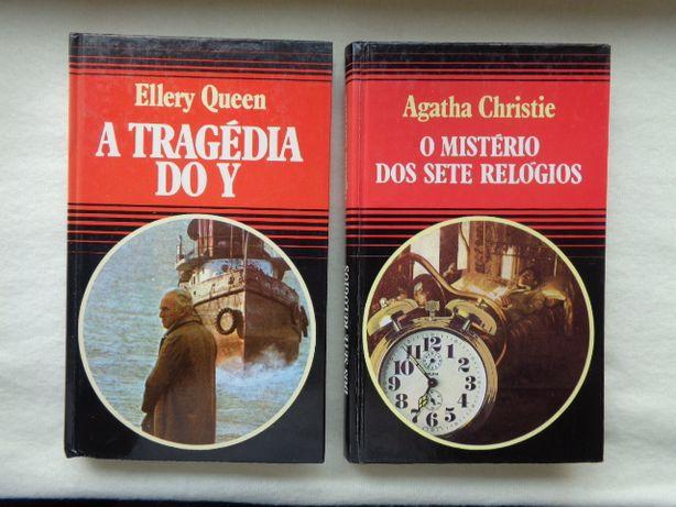 """""""A Tragédia do Y""""-E.Queen e """"O Mistério dos Sete Relógios""""-A.Christie"""