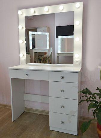 Зеркало для макияжа с подстветкой гримерный визажный макияжный столик