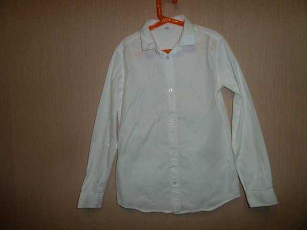 Marks&Spencer Крутая белая рубашка на 12-13 лет в идеале