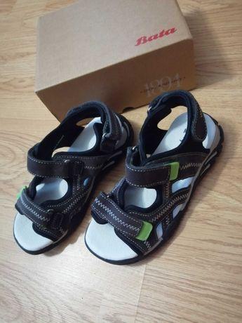 Сандалии, сандалі, босоножки, босоніжки, кожа, мальчик, Bata, 33