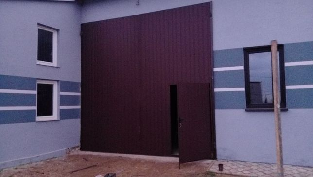 bramy garażowe drzwi wrota stalowe wierzeje hala do stodoły obory na w