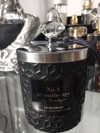 Świeca zapachowa w dekoracyjnym pojemniku z diamentem glamour nowa