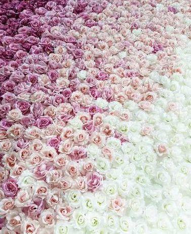 Ścianka kwiatowa do wynajęcia na ślub i wesele jako tło lub dekoracja