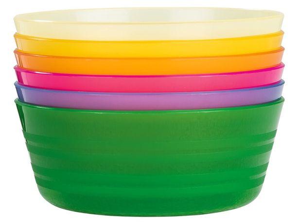 Пластикові миски 6 шт. Ernestо Німеччина, пластиковые миски, тарелки
