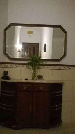 Sapateira e espelho madeira maciça