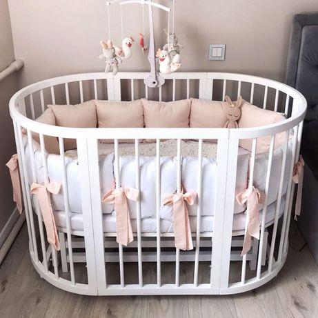 Акция! Круглая /овальная детская кроватка трансформер +подарок