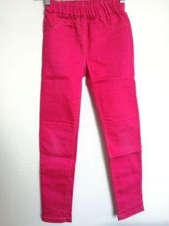 Spodnie 140 cm 9-10 lat Pepperts dla dziewczynki różowe jeansy z gumką