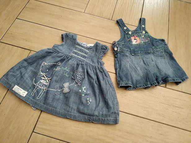 Jeansowe sukienki r. 62-68