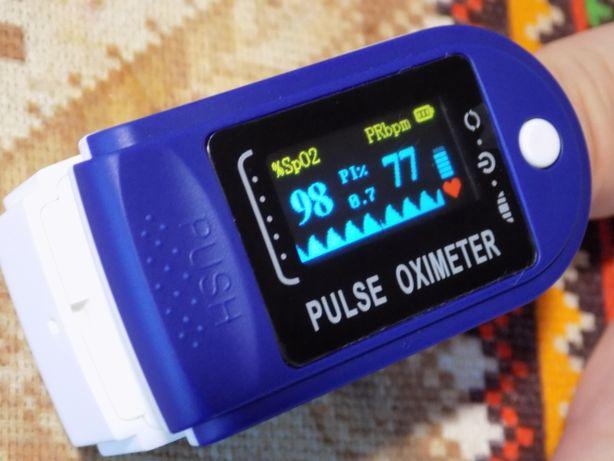 Пульсоксиметр на палець Pulse Oximeter LK87 батарейки у подарунокnew
