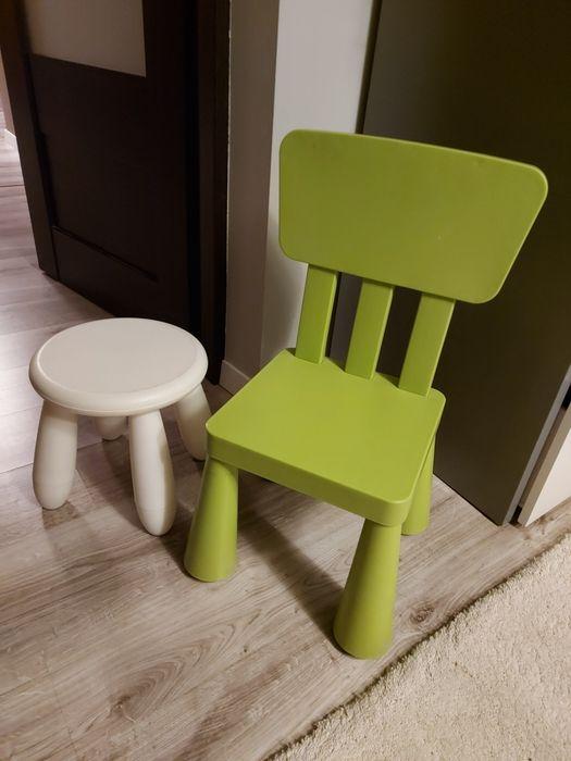Krzesełko i taborek ikea Władków - image 1