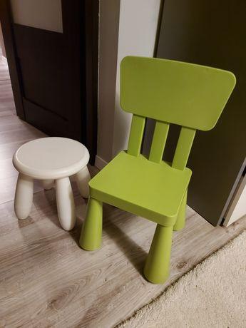 Krzesełko i taborek ikea