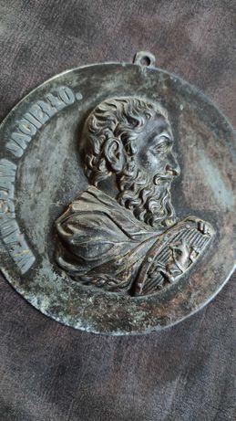 Plakieta cynkal z Władysławem Jagiełło