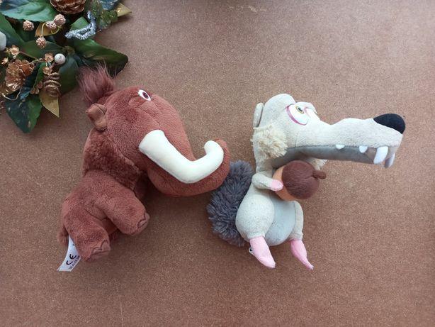 Ледниковый период Белка Скрат, мамонт Мэнни мягкая игрушка