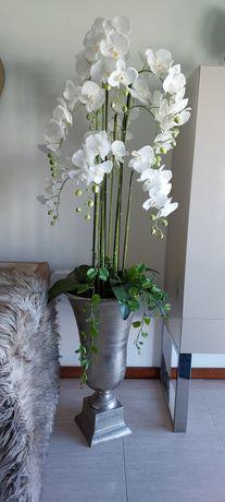 Vaso com orquídeas
