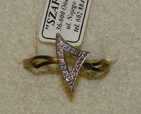 TANIO ! Złoty pierścionek próby 333 8karat-Firma Szafir-Wzór 155