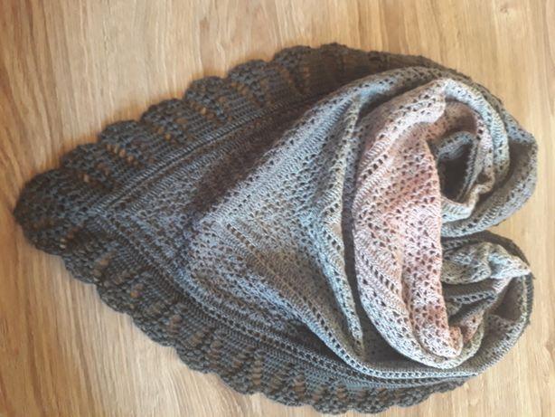 Ręcznie robiona chusta na szydełku, handmade,