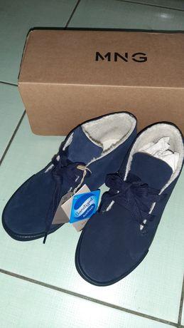 Новые замшевые ботинки Mango на мальчика 37р 23см