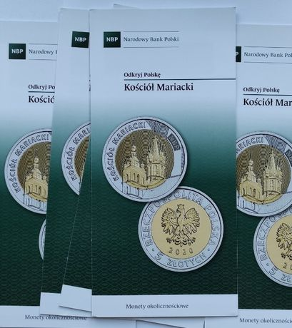 monety-5 zł 2020 r-Kościół Mariacki-FOLDERY