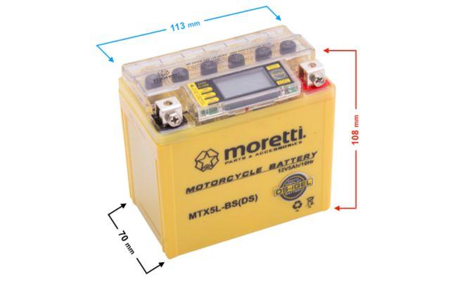 Akumulator Żelowy MTX5L-BS z elektronicznym wyświetlaczem LCD