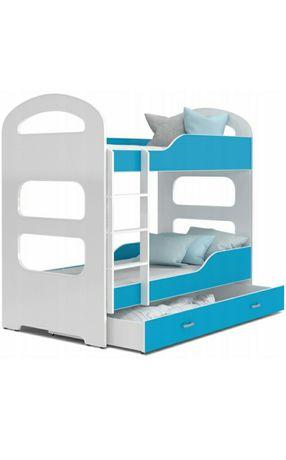 Łóżko piętrowe dziecięce 160x80 z szufladą