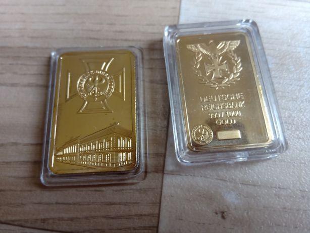 Replika sztabki złota - Niemcy Reichsbank. Cudo!