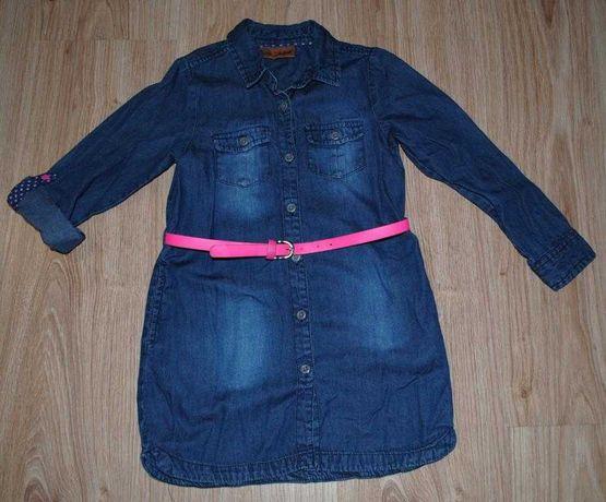 04-> jeansowa sukienka COOL CLUB szmizjerka r.98 2-3Y
