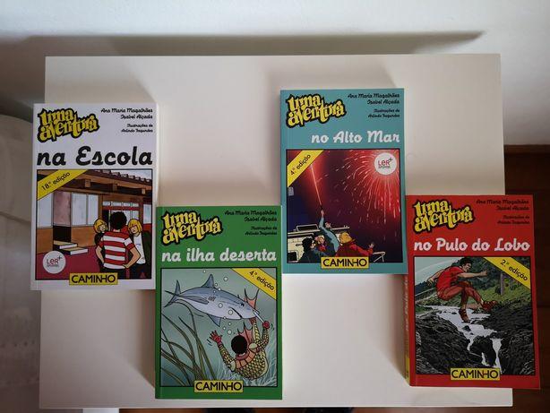 """Conjuntos de 4 livros da colecção """"Uma aventura"""""""