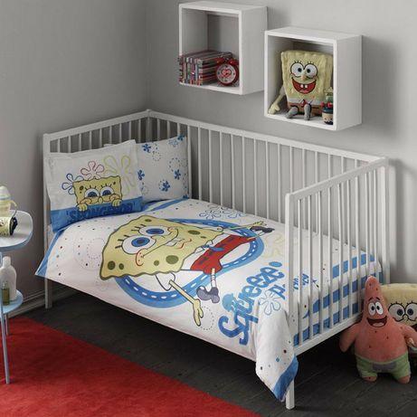 Комплект детского постельного белья в кроватку Спанч боб