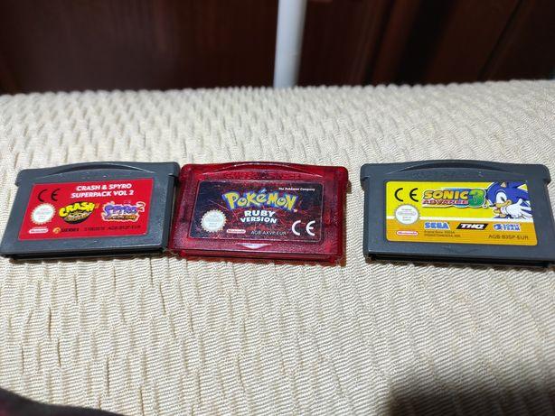 Pokemon Ruby Sonic Spyro Crash Nintendo Gameboy Advance