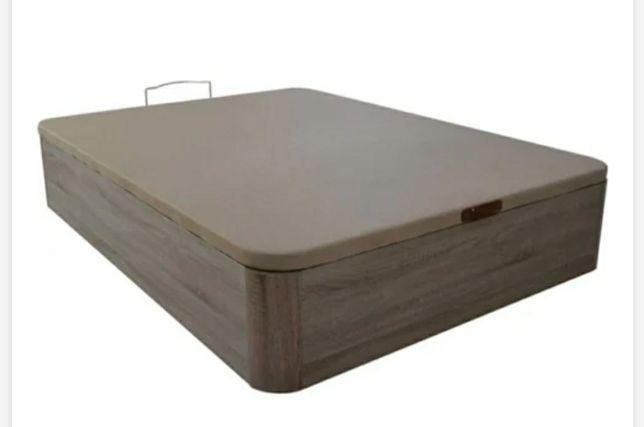 Cama sommier com armazenamento 150×200