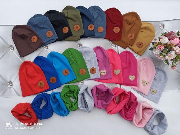 Komplet jesienny czapka i komin super cena!