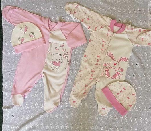 Продам человечки для новорождённого, 56-62 размер