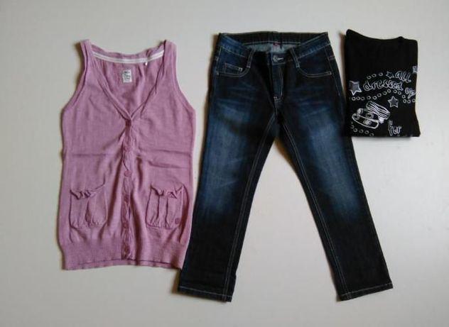 джинсы +жилет + футболка 12-15лет