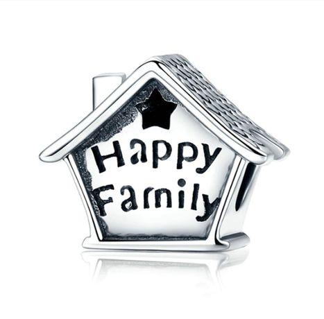 Charms PANDORA srebro 925 happy family rodzina dom domek szczęście