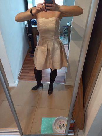 Sukienka złota top studio