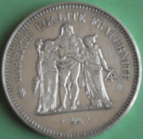 Moeda 50 Francs ano 1974